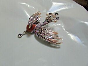 Joan Rivers 3D Enamel Crystal Firebird Swan Pin ~ Brooch Ltd Edition New in BAG
