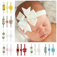 3PCS Colors Baby Bow Headband Newborn Infant Girl Toddler Hair Band Accessories