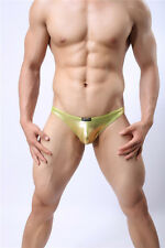 Mens Faux Leather G-String Thongs Underwear Shorts Backless Boxers Briefs Bikini