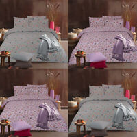 Blossom Duvet Cover Set Double Single Super King Size Reversible Floral Bedding