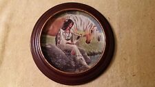 PRAIRIE FLOWER PRINCESSES PLAINS DAVID WRIGHT PLATE IN FRAME
