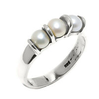 Pearl Natural Gemstone Handmade 925 Sterling Silver Ring Size 8