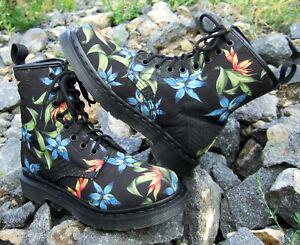 Dr. Martens 1460 Castel Hawaiian 8-eye Canvas Boots Hawaii Floral uk4 us6L eur37