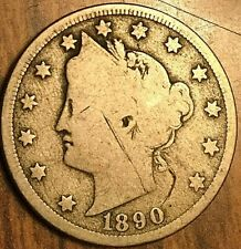 1890 USA 5 CENTS LIBERTY