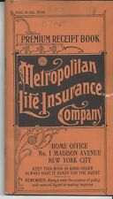 Vintage Metropolitan Life Insurance 1923 Debit Book