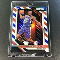 DEANDRE AYTON 2018 PANINI PRIZM #279 RED WHITE BLUE REFRACTOR ROOKIE RC SUNS NBA