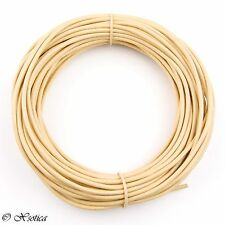 Beige Round Leather Cord 1mm, 10 meters (11 yards)