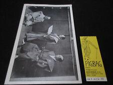Pigbag 1982 Japan Tour Book w Ticket Rip Rig Panic Pop Group Rough Trade Pig Bag