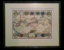"""Vintage French lithograph map by Daniel Derveaux """"Carte Des Vins de Loire"""" 1941"""