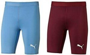 Mens Puma Team Running Cyclying Gym Compression Baselayer Shorts New 24HR 🚚