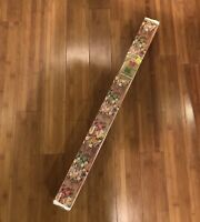 VTG Roll Christmas Wrapping Paper Gift Wrap Unused Box Cutter Wreaths 90 SQ FT