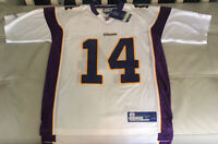 Reebok Minnesota Vikings Men/'s NFL Player Jersey Brad Johnson #14 White