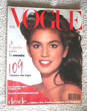 VOGUE Nº 1 (1988)! CINDY CRAWFORD! Impossible to Find! SPAIN, MAGAZINE, REVISTA.