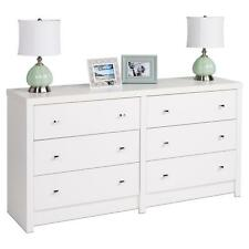 6 Drawer Dresser Bedroom Storage Chest Wooden White Furniture Cabinet Organiser