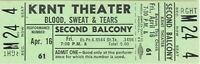 BLOOD, SWEAT & TEARS / AL KOOPER 1967 TOUR UNUSED KRNT TICKET NMT 2 MNT / No. 1