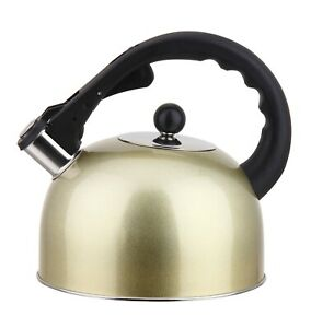 Stainless Steel Stovetop Tea Kettle 3L With Handle, Induction Compatible
