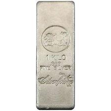 SilverTowne Poured 1 Kilo .999 Silver Bar