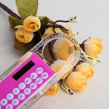 10cm Ruler Mini Digital Calculator 2 in 1 Kid Stationery School Office Gifts 1