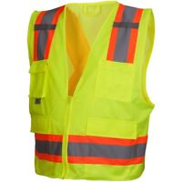 Pyramex Class 2 X-Back Surveyor Safety Vest, Yellow/Lime