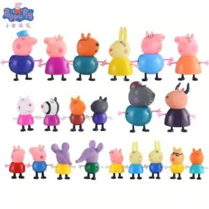 NEW 25PCS Peppa Inspired Pig Family & Friends Figures toys PLAYSET Kids Gift