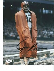 JIM BROWN Cleveland Browns signed 8x10 photo JSA COA