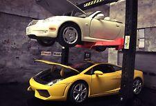 2 Post Car Lift 1/24 Miniature Diorama Garage Scale Accessory For Diecast Model