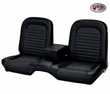 1964 &1965 Mustang Coupe Front/Rear Bench Seat Upholstery Black Vinyl -IN STOCK!