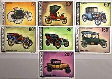 Congo Brazzaville 1968 154-60 U 174-78 c67-68 AUTOMOBILE OLD CARS AUTOMOBILI MNH