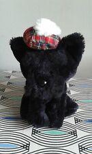 "Black Scottie Dog Pipp The Bear 6"" Soft Toy Plush Beanie Comforter HAND WASH"