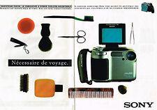 PUBLICITE ADVERTISING 045  1996    SONY  caméscope  vidéo Hi8  ( 2 p)