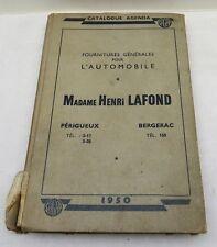 Agenda 1950 Mme Henri Lafond fourniture pour l'automobile Perigueux et Bergerac