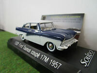 FORD  TAUNUS COUPE 17M 1957 1/43 SOLIDO 20370700 voiture miniature de collection