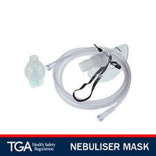 2 NEBULISER MASKS & TUBING 2M Nebulizer Mask - ADULT Size