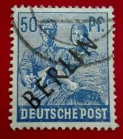 Germany:1948 BERLIN in Black Overprint on Allied Occu. Rare & Collectible Stamp.