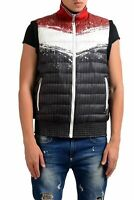 Just Cavalli Men's Graphic Reversible Full Zip Padded Vest US S IT 48