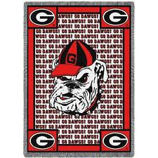 University of Georgia Bulldogs Tapestry Afghan Throw