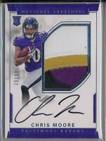 CHRIS MOORE 2016 National Treasures True Rookie 4 Clr Patch AUTO /99 Ravens RC