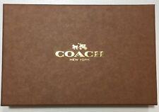 COACH Uomo Nero Pelle 3pc Gift Set Wallet/portachiavi/titolare della carta in scatola