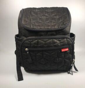 Black Skip Hop Quilted Diaper Backpack