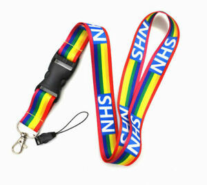 1PC Rainbow Lanyards | NHS| for Keys ID Card Mobile Phone Holder