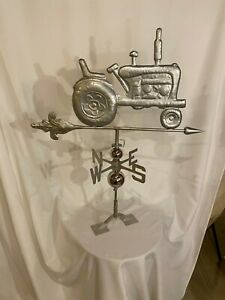LARGE Handcrafted 3D 3Dimensional TRACTOR Weathervane Stainless Steel Finish