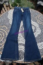 "Benetton Blue Flare Vintage Jeans New 26"" Flared"