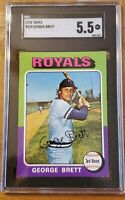 1975 Topps #228 George Brett Rookie Royals Vintage Baseball RC HOF SGC 5.5 EX+