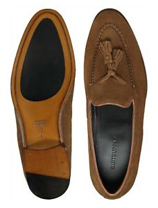 SUITSUPPLY Suede Brown Loafers FW142267 Tassel Loafers - Size 42.5 EU / 8.5 UK