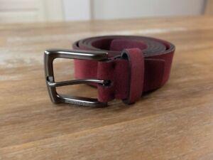 ERMENEGILDO ZEGNA red suede belt - Size 105 / 40 (best fits 40 inch waist) - NWT