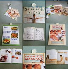 *Used* Lovely Bundle 3 X Books~Massage~Yoga~Stretch~Relax~Detox~Diet & Self Help