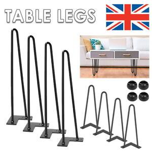 4 x Hairpin Legs / Hair Pin Legs Set for Furniture Bench Desk Table 4/12/16/28