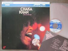 CHAKA KHAN Live at Roxy JAPAN Laser Disc LD MP039-22MP w/INSERT Free S&H/P&P