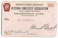 Pennsylvania Railroad Veteran Employee's Association NJ Division Pass 1915