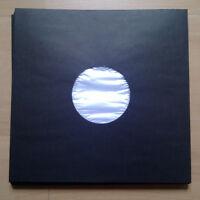 """15 LP Innenhüllen Deluxe Kunststoff-Fütterung Schwarz für 12"""" Vinyl / NEU"""